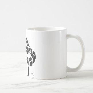逆立ちのバランス コーヒーマグカップ