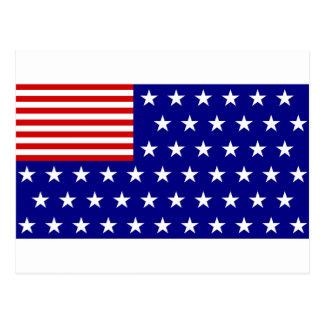 逆色の米国旗 ポストカード