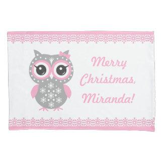 逆転する名前をカスタムするのクリスマスの女の子の枕カバー 枕カバー