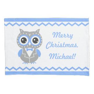 逆転する名前をカスタムするのクリスマスの男の子の枕カバー 枕カバー