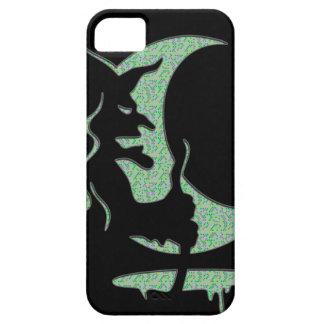 """逆転の芸術の""""邪悪な魔法使い""""の-黒/緑の点 iPhone SE/5/5s ケース"""