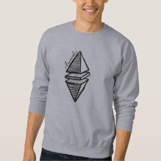 透明で幾何学的なピラミッド スウェットシャツ