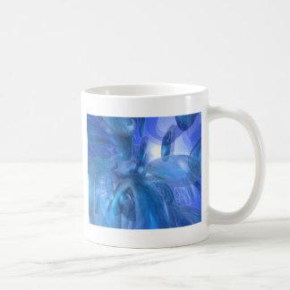透明で青いリング コーヒーマグカップ