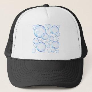 透明で青い石鹸の泡 キャップ