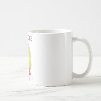透明なひよこの規則のポートレート コーヒーマグカップ
