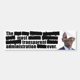 透明なオバマ-選挙2012年 バンパーステッカー