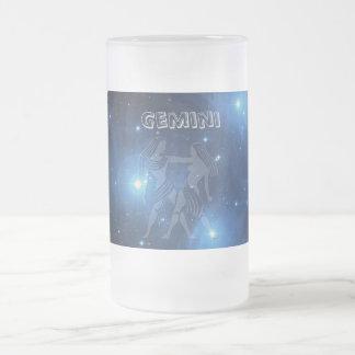 透明なジェミニ フロストグラスビールジョッキ