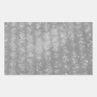 透明なノベルティBubblewrap 長方形シール