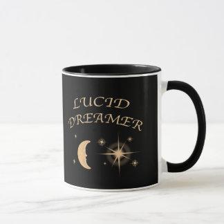 透明な夢みる人のブラックコーヒーのマグ マグカップ