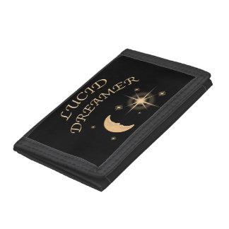 透明な夢みる人日曜日および月の財布の設計 ナイロン三つ折りウォレット