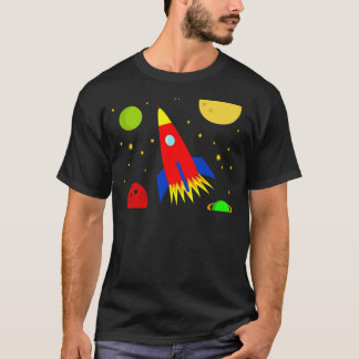 透明な宇宙船 Tシャツ