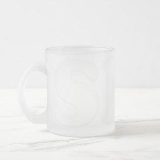 透明な曇らされたマグ彼女 フロストグラスマグカップ