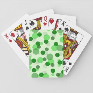 透明な緑のドット・パターン トランプ