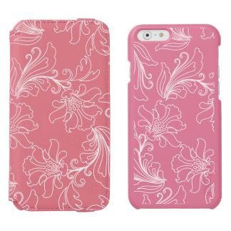 透明な背景のファンタジーの花柄 INCIPIO WATSON™ iPhone 5 財布型ケース
