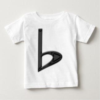 透明な背景の手紙bの黒 ベビーTシャツ