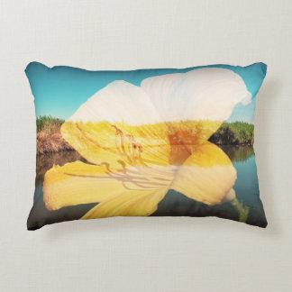 透明な花およびlandsccapeの枕 アクセントクッション