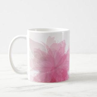 透明な花のマグ コーヒーマグカップ