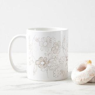 透明な花 コーヒーマグカップ