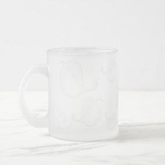 透明な葉のレリーフ、浮き彫りによって曇らされるマグ フロストグラスマグカップ