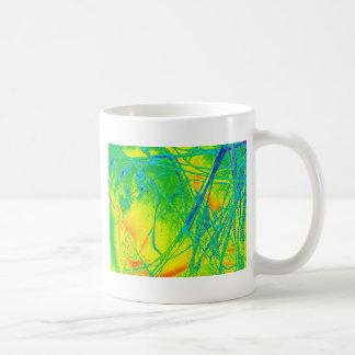 透明な虹の生地 コーヒーマグカップ