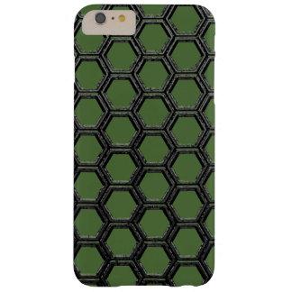 透明な金属の六角形パターンiPhoneの場合 iPhone 6 Plus ベアリーゼアケース