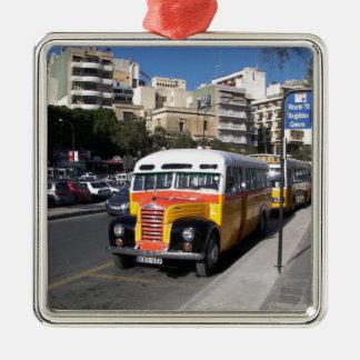 通りのテムズクラシックなバス メタルオーナメント