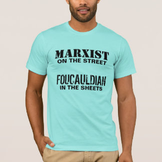 通りのマルクス主義者かシートのFoucauldian Tシャツ