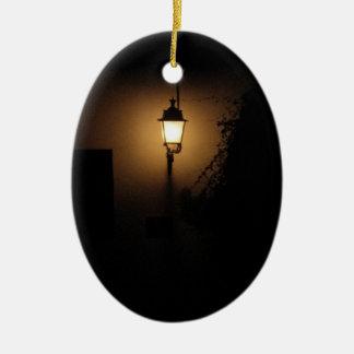 通りのランタン夜ランプの楕円形のオーナメント セラミックオーナメント