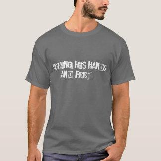 通りの天使スペイン-メンズ灰色のTシャツL Tシャツ