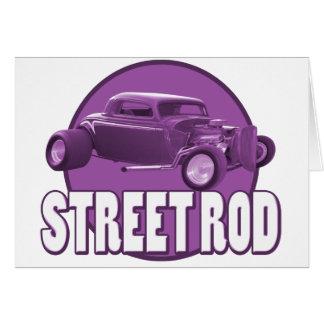 通りの棒の円の紫色 グリーティングカード