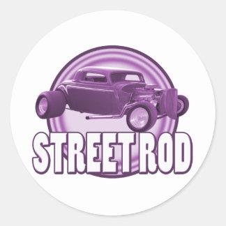 通りの棒の紫色のリングや輪 ラウンドシール