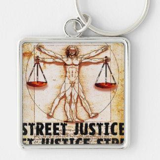 通りの正義によるVitruvianの人 キーホルダー