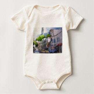 通りの眺めサンフランシスコ2.jpg ベビーボディスーツ