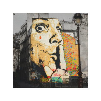 通りの芸術の落書きのキャンバスの芸術 キャンバスプリント