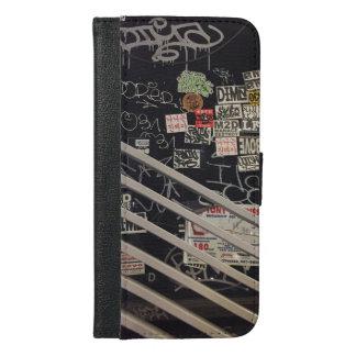 通りの落書きのIPhoneの場合 iPhone 6/6s Plus ウォレットケース