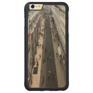 通りの豊富なかえでのiPhone 6のプラスの場合 CarvedメープルiPhone 6 Plusバンパーケース