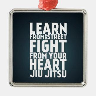 通りのJiu Jitsuの黒から学んで下さい メタルオーナメント