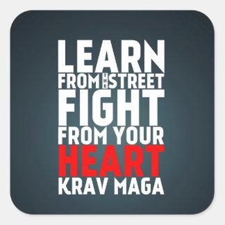 通りのKrav Magaの黒から学んで下さい スクエアシール