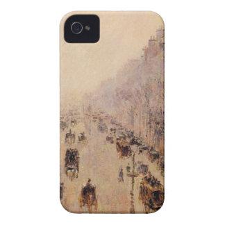 通りのMontmartreの朝、日光および霧 Case-Mate iPhone 4 ケース