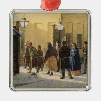 通り場面、刑務所の外で、1868年 メタルオーナメント