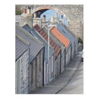 通り場面- CullenのMoray、スコットランド ポストカード