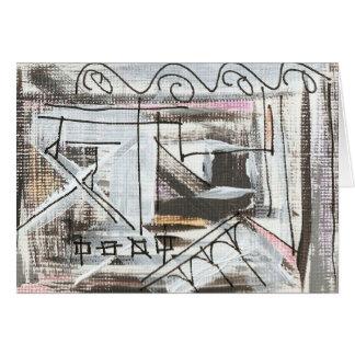 通り手によって絵を描かれる抽象的なブラシストローク カード
