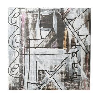 通り手によって絵を描かれる抽象的なブラシストローク タイル