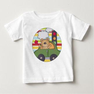 通り車くまのベビーのTシャツ ベビーTシャツ