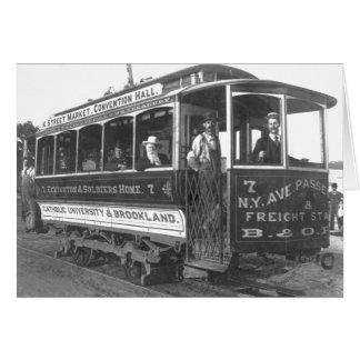 通り車Washington D.C. Vintage 1890年 カード