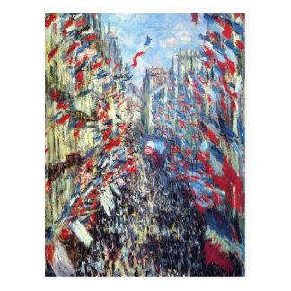 通りMontorgueil、クロード・モネ著パリ ポストカード