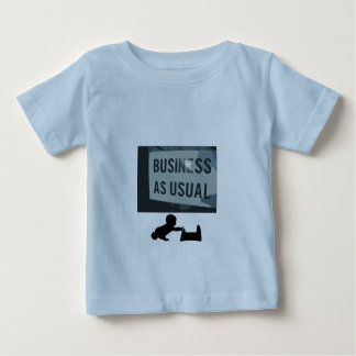 通常の印として黒い及び灰色ビジネス ベビーTシャツ