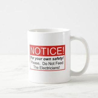 通知/電気技師 コーヒーマグカップ
