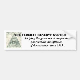 通貨の連邦準備制度のインフレーション バンパーステッカー