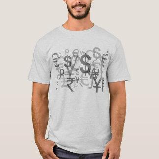 通貨記号の株式市場のワイシャツ Tシャツ